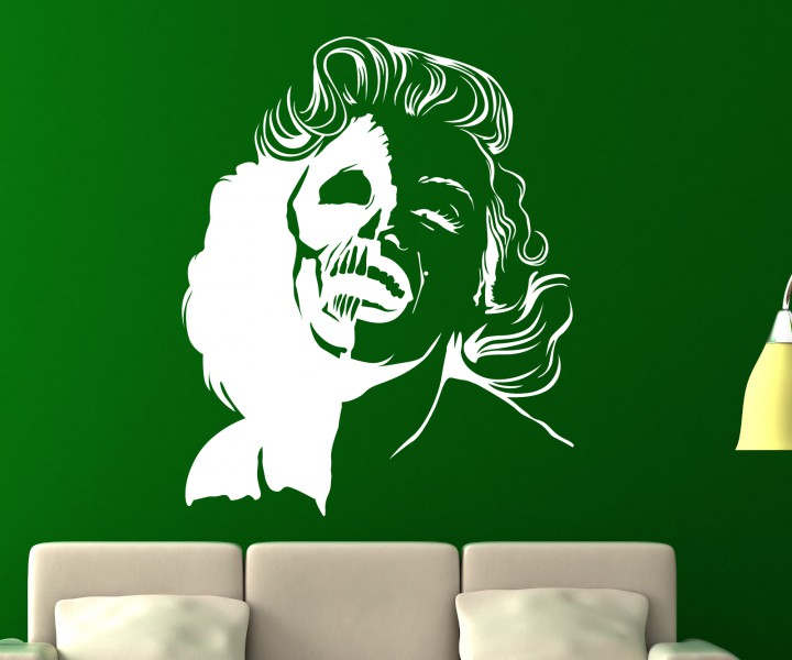 wandtattoo xxl skelett marilyn monroe horror knochen sticker aufkleber 5o281 wandtattoos skulls. Black Bedroom Furniture Sets. Home Design Ideas