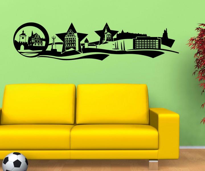 wandtattoo konztans stadt skyline wand sticker aufkleber. Black Bedroom Furniture Sets. Home Design Ideas