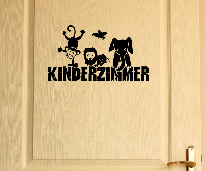 t raufkleber kinderzimmer t r anschrift deko sticker. Black Bedroom Furniture Sets. Home Design Ideas