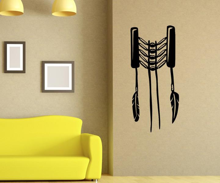 wandtattoo indianer feder schmuck western indien aufkleber. Black Bedroom Furniture Sets. Home Design Ideas